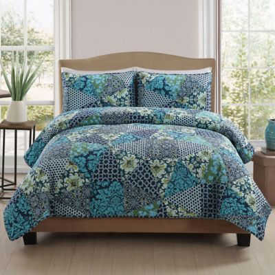 Queen Quilts Blue and Green