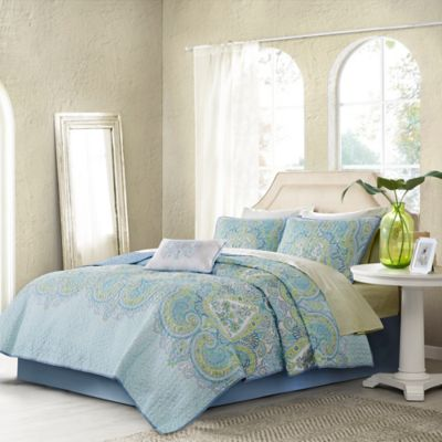 Madison Park Essentials Celeste Reversible Twin Coverlet Set