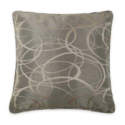 VCNY Tatiana Geometric Jacquard Throw Pillow in Brown
