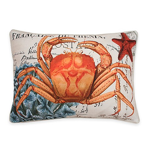 Throw Pillow In French : Thro French Coastal Crab Throw Pillow in Orange - Bed Bath & Beyond