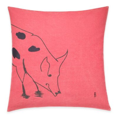 ED Ellen DeGeneres Freestanding Pig Throw Pillow in Washed Red