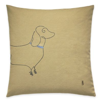 ED Ellen DeGeneres Freestanding Dachshund Throw Pillow in Yellow
