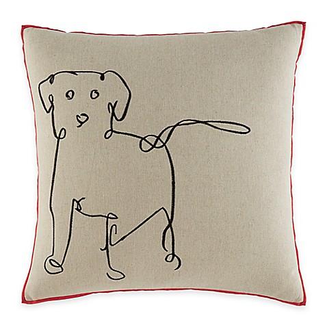 Buy Ed Ellen Degeneres Dog Square Throw Pillow In Medium