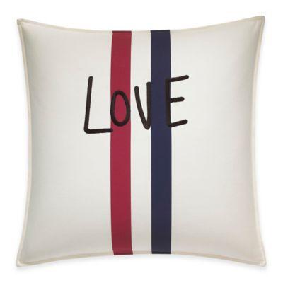 ED Ellen DeGeneres™ Embroidered Love Throw Pillow in Ivory