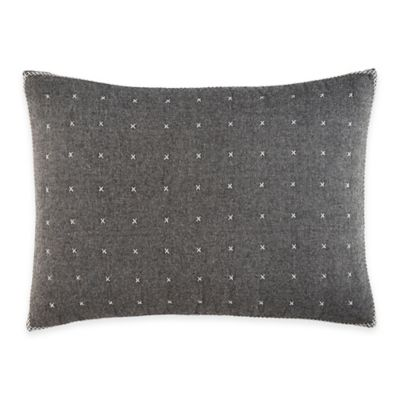 ED Ellen DeGeneres Greystone Breakfast Throw Pillow in Dark Grey