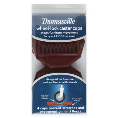 Thomasville Wheel-Lock Caster Cups (Set of 4)
