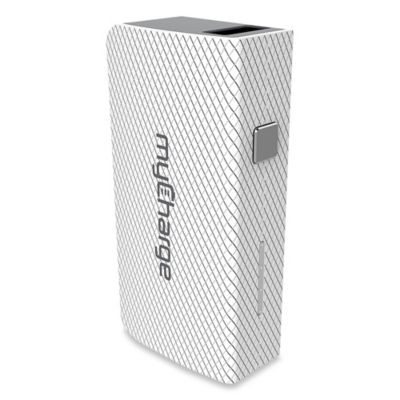 myCharge® AmpMini 2000 mAh Portable USB Charger in White