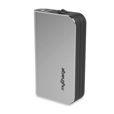 myCharge® HubUltra 12000mAh Portable Charger in Silver