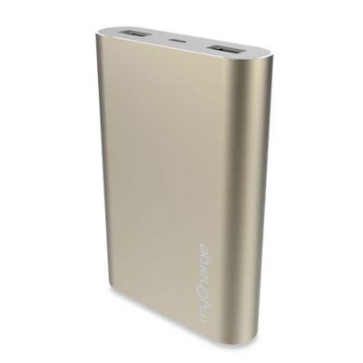 myCharge® RazorUltra 12000mAh Portable Charger in Gold