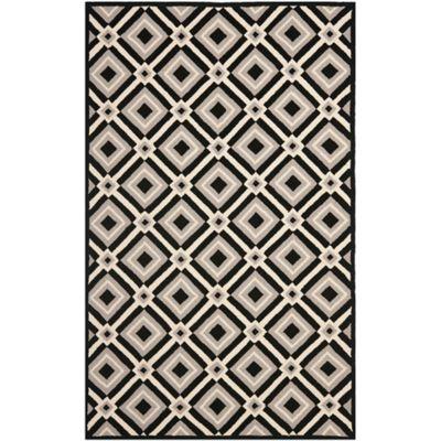 Safavieh Four Seasons Diamonds 8-Foot x 10-Foot Indoor/Outdoor Area Rug in Black/Grey