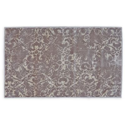 Feizy Chantal 2-Foot 2-Inch x 3-Foot 7-Inch Accent Rug in Grey/Ecru