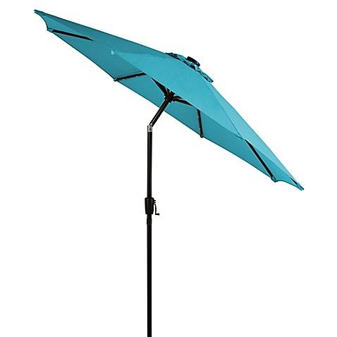 9 Foot Round Solar Aluminum Patio Umbrella Bed Bath Amp Beyond