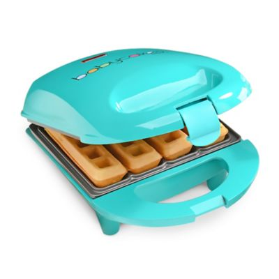 Babycakes® 4-Cavity Mini Waffle Stick Maker in Teal