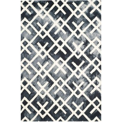 Safavieh Dip Dye Angles 5-Foot x 8-Foot Area Rug in Green/Ivory