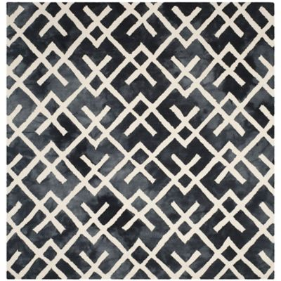 Safavieh Dip Dye Angles 7-Foot x 7-Foot Square Area Rug in Graphite/Ivory