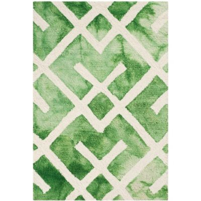 Safavieh Dip Dye Angles 2-Foot x 3-Foot Accent Rug in Green/Ivory