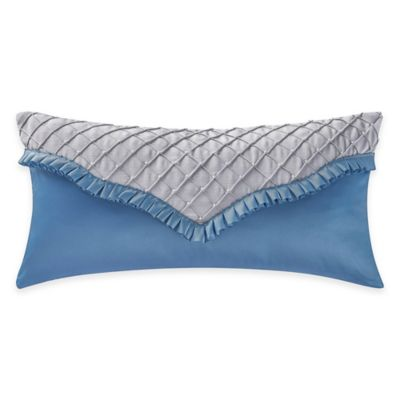 Waterford® Linens Charlotte Breakfast Throw Pillow in Silver/Cobalt