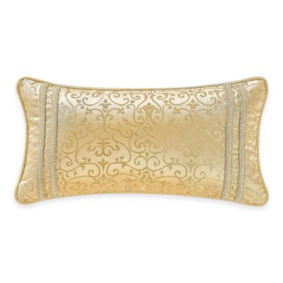 Waterford® Linens Juliette Breakfast Throw Pillow in Gold