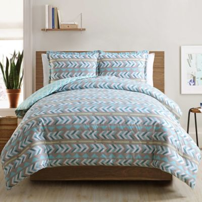 Clairebella Navajo Reversible Twin Comforter Set in Aqua