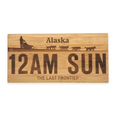 Alaska License Plate Bamboo Cutting Board
