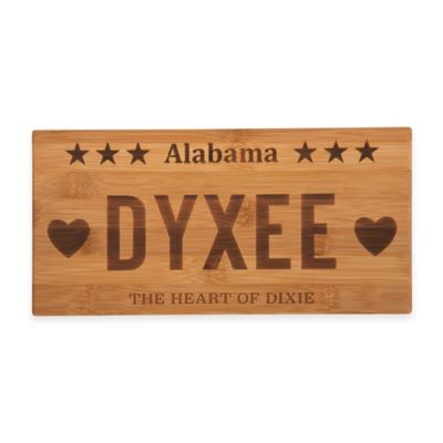 Alabama License Plate Cheese Board