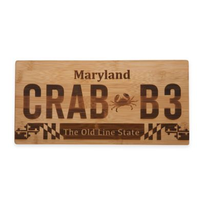 Maryland License Plate Cutting Board