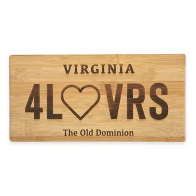 Virginia License Plate Cutting Board