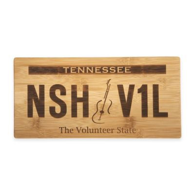 Tennessee License Plate Bamboo Cutting Board