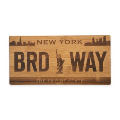 New York License Plate Cutting Board