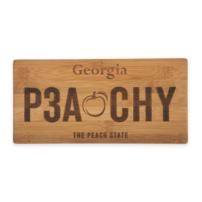 Georgia License Plate Cutting Board
