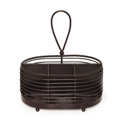 Gourmet Basics by Mikasa® Wire Rope Napkin and Flatware Caddy in Black