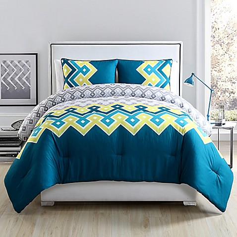 Clairebella katya reversible comforter set bed bath beyond for Clairebella