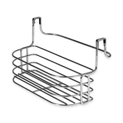 Spectrum Duo Medium Over-the-Cabinet Towel Bar and Basket