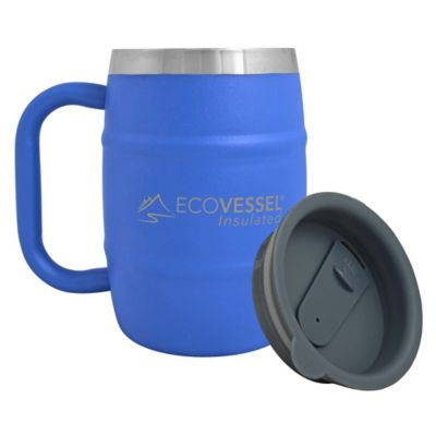 Eco Vessel® Double Barrel Double Wall Insulated Mug in Blue