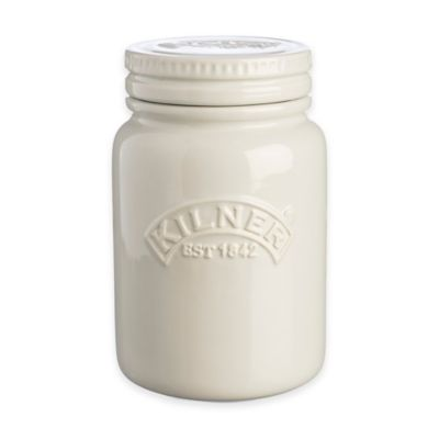 Kilner® Round 21. oz. Ceramic Canister in Moonlight Grey