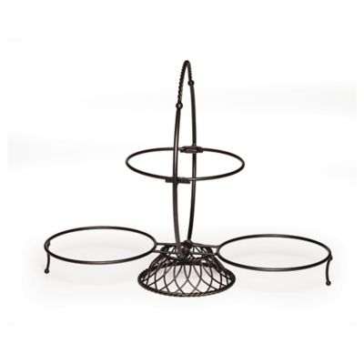 Gourmet Basics by Mikasa® 3-Tier Buffet Server in Black