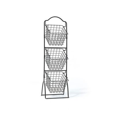 Gourmet Basics by Mikasa® 3-Tier Wire Market Basket in Black