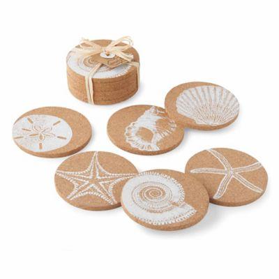 Mud Pie® Shell Print Coasters (Set of 6)