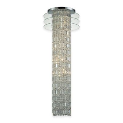 Elk Lighting Zoey 6-Light Chandelier in Polished Chrome with Clear Glass