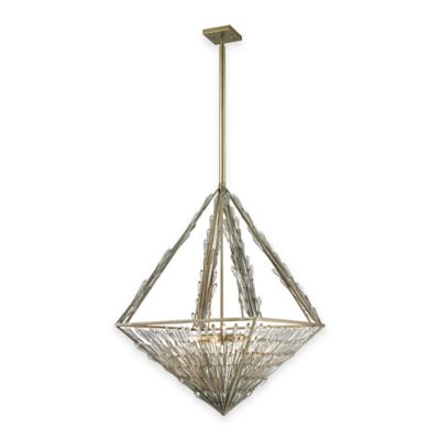 ELK Lighting Viva Natura 8-Light Pendant Light in Aged Silver