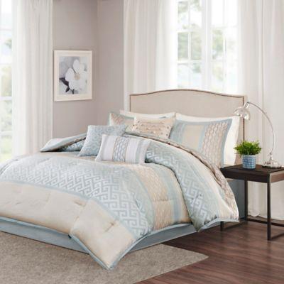 Madison Park Bennett 7-Piece California King Comforter Set in Aqua