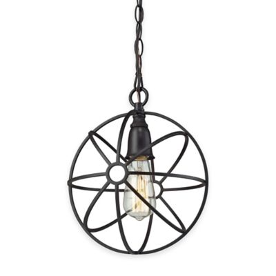 Elk Lighting Yardley 1-Light Globe Pendant Light in Oil-Rubbed Bronze