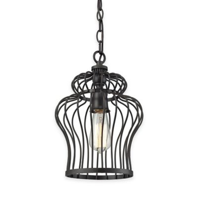 Elk Lighting Yardley 1-Light Foyer Pendant in Oil-Rubbed Bronze