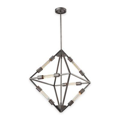 ELK Lighting Laboratory Collection 6-Light Chandelier in Weathered Zinc