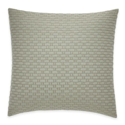 ED Ellen DeGeneres Montecito Square Throw Pillow in Light Green