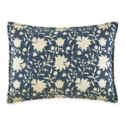 ED Ellen DeGeneres Azur Stripe Floral Breakfast Throw Pillow in Indigo