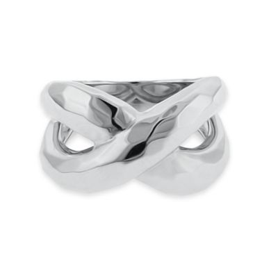 Silver Faceted Ring