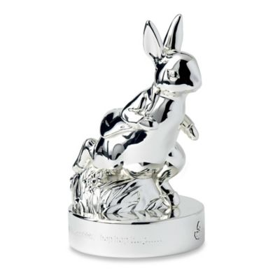 Wedgwood Peter Rabbit Moneybox in Silver