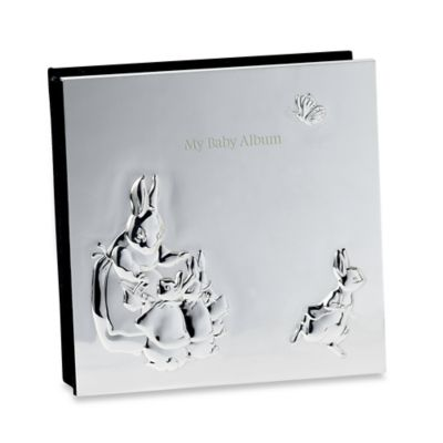 "Wedgwood Peter Rabbit ""My Baby Album"" Photo Album in Silver"