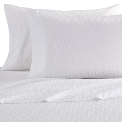 Frette At Home Porto Venere Standard Pillowcase in White